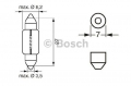Żarówka 24V3W  SV7-8  krótka rurka